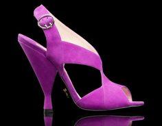 Sandali colorati Primavera Estate 2014 - Sandali viola in camoscio Prada