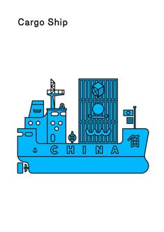 Cargo ship by Maddison Graphic