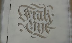 FrakOne. Stencil Art, Stencils, Arabic Calligraphy, Typography, Crafts, Food, Letterpress, Manualidades, Letterpress Printing