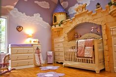 Wow. Now that's some nursery! What a lucky little girl go get her very own princess room with a castle.