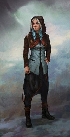 f Rogue Thief Royal Courier ArtStation - Modern water mage, Lucy Lisett Fantasy Women, Fantasy Rpg, Medieval Fantasy, Fantasy Artwork, Space Fantasy, Fantasy Inspiration, Character Design Inspiration, Mode Inspiration, Character Concept