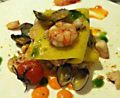 lasagnetta bianca di pesce, ristorarante il Marin, Genova. Il racconto della cena a questo link http://bit.ly/1iUZB8f