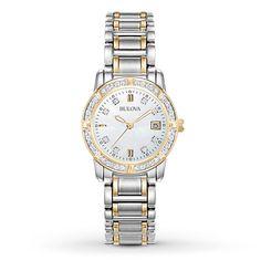 5487c5af38e Bulova Women s 98R107 Diamond Accents Quartz Two Tone Dress Watch - BULOVA  AUTHORIZED FACTORY REFURBISHED WITH