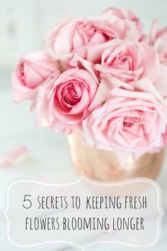 Sharing 5 secrets to keeping your fresh bouquets blooming longer  #bHomeApp