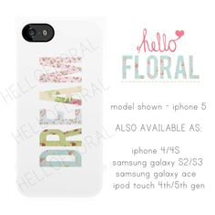 Dream floral girly iPhone 4/4S 5 Samsung Galaxy S2 by hellofloral, £15.00