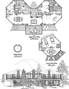 Online House Plan: 4220 sq. ft., 3 Bedrooms, 3 1/2 Baths, Premiere Collection (PR-0407) by Topsider Homes.