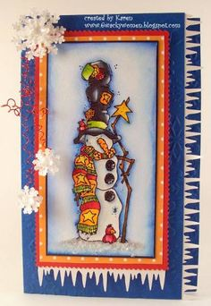 Country snowman by *1 wacky woman* - Cards and Paper Crafts at Splitcoaststampers