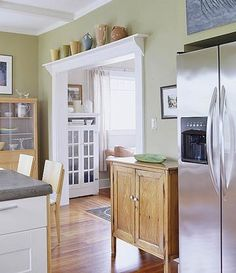 Add shelf over existing home kitchen doorway