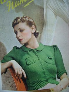 I love green...and I would love to time travel to wear this sweater.
