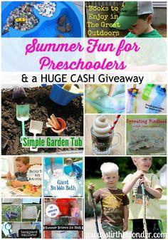 Summer Fun for Preschoolers  a HUGE CASH Giveaway!!! | Stir The Wonder #kbn #giveaway #summer #preschoolers