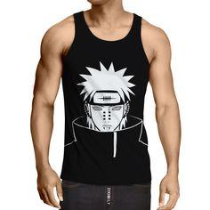 Naruto Shippuden Yahiko Pain Super Villain Akatsuki Simple Cool Design Tank Top  #Naruto #Shippuden #YahikoPain #SuperVillain #Akatsuki #Simple #CoolDesign #TankTop