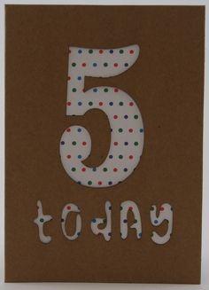 Birthday Card Age 5 £2.50
