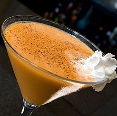 Enjoy this Pumpkin Spice Martini recipe from Just Restaurant, NJ! Ingredients: Scoop of ice, 3/4oz Stoli Vanilla, 1/2oz Creme de cocoa white, and 2 1/2oz milk. In a shaker ombine the ingredients. Coat the the rim with cinnamon. Place a cinnamon stick into the martini glass and strain the ingredients from the shaker in the glass.