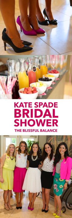 Kate Spade Inspired Bridal Shower | the blissful balance