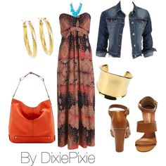 Summer Outfit. Fashion over 40. by dixiepixie on Polyvore featuring AX Paris, Mulberry, Vince Camuto, Emilio Pucci, Brooks Brothers and Ten Thousand Things