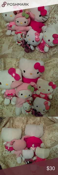 Hello Kitty Collection Six Hello Kitty, one is a key fob. Played with but really cute. My daughter is growing up...sad Hello Kitty Other