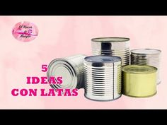 DIY 5 IDEAS PARA RECICLAR Y DECORAR LATAS - YouTube Easy Diy Crafts, Recycled Crafts, Recycle Cans, Repurpose, Do It Yourself Projects, Design Crafts, Art Lessons, Ideas Para, Diy Projects
