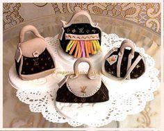 Louis Vuitton Mini Handbag Cupcake toppers  Cake by MelSugarMama