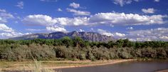 Sandia Mountain with the Rio Grande