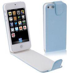 Handytasche Klapptasche für Iphone 5 in hellblau von CNP