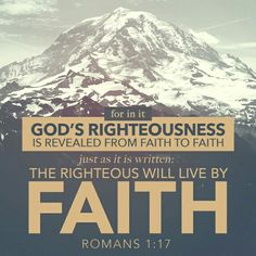 De hecho, en el evangelio se revela la justicia que proviene de Dios, la cual es por fe de principio a fin, tal como está escrito: «El justo vivirá por la fe.» Romanos 1:17 NVI http://bible.com/128/rom.1.17.NVI