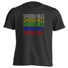 Retro Hometown - Shadow-Hills, CA 91040 - Black - Small - Vintage - Unisex - T-Shirt