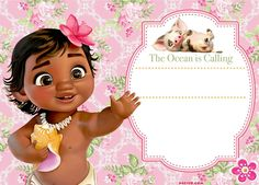 Moana is the latest disney princess. One of the best animated by Disney. If you have watched the movie, then you will love our invitation. Moana birthday theme is great for summer party, Hawaii party theme or pool party. Here's free printable Moana B Moana Party, Moana Theme, Moana Birthday Party, Luau Birthday, 1st Birthday Parties, Birthday Banners, 1st Birthdays, Baby Moana, Festa Moana Baby