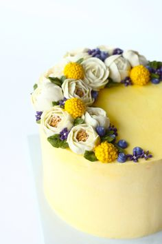 Eat Cake Be Merry Buttercream flower cake