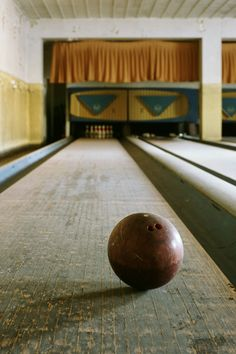 Abandoned hospital bowling lane. (must have been a psychiatric hospital...bowling?)