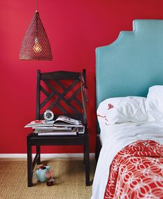 "paint color ideas - this is ""Rhubarb Regal"" by Benjamin moore."