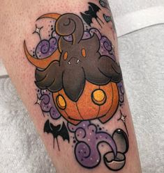 AND DID THIS PUMPKABOO TOO 😭😭😭😭 Pumpkaboo is my favourite I could tattoo him all day!! Thanks Megan!