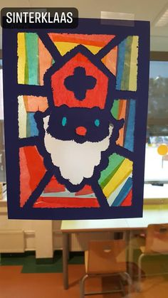 rnrnSource by mariepaulefeys Holiday Crafts For Kids, Diy For Kids, Holiday Fun, Diy And Crafts, Arts And Crafts, Paper Crafts, St Nicholas Day, Stained Glass Crafts, Holidays With Kids