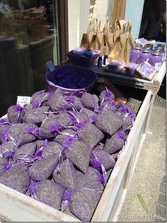 Lavender for sale at a market in L'Isle-sur-la-Sorgue, France