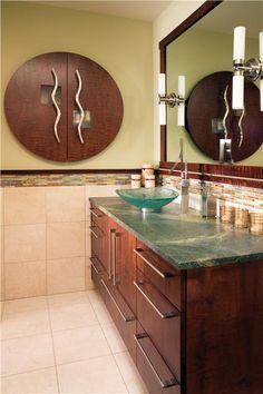 Elegant Contemporary Bathroom By Ellie Baker On HomePortfolio Retro  Bathrooms, Small Bathrooms, Amazing Bathrooms