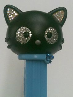 choco cat PEZ  dispenser    SWAROVSKI ELEMENTS