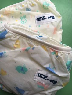 Vintage Gerber EZ-one Cloth Diaper + Vinyl Diaper Cover, USA, Newborn, Baby…