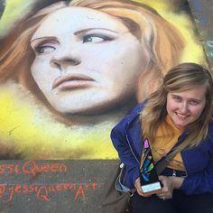 @jessiqueenart won Best in Show at the @dogwoodarts chalk walk! #gachalkartists #chalkart #chalkartists