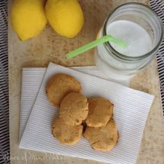 Lemon Cookies - No gluten, grain, nuts, dairy, eggs, soy, or refined sugar.  Allergy friendly :-)