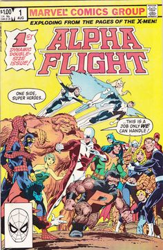 Comic - Alpha Flight 1 - MARVEL COMICS (1983) - Canada's Super Heroes, Key First…
