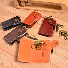 Handmade Vintage Genuine Leather Keysmart Car Key Holder Wallet by Rochid on Etsy
