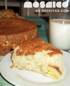 Mosaico de Receitas: Bolo de iogurte e banana