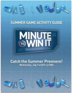 Kidology - Minute to Win It Games - You can download the book it has 106 pages of game ideas