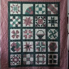 @Missouri Star Quilt Company Started this quilt 20+ years ago, completed the piecing, just recently had a local longarm quilter finish it! If I won the charm pack I would make small lap quilt..I love Chevron patterns...hmmm maybe I'd make a purse?  Whatever I'll have fun with it!