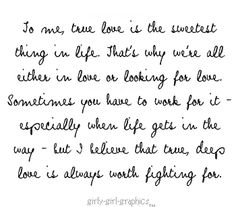 So very true and so close to my heart!