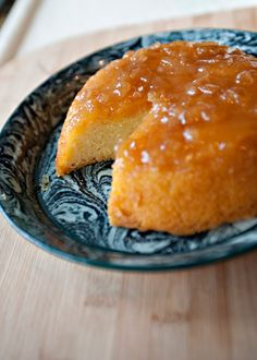 Lemon Ginger Steamed Pudding - The ginger jam makes the cake moist and mildly spicy. It would be delicious with whipped cream, ice cream, or poured cream. Suet Pudding, Toffee Pudding, Banana Pudding, Protien Pudding, Pudding Corn, Pudding Desserts, Pudding Recipes, Dessert Recipes, Trifle Desserts