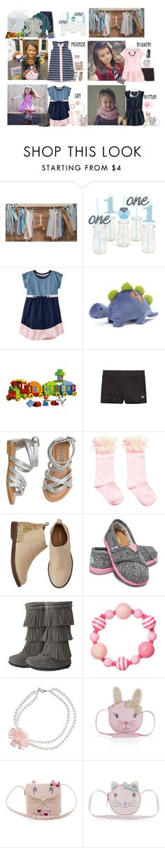 """9/24 -Marco's 1st Birthday Party"" by my-creative-mess ❤ liked on Polyvore featuring Gymboree, Gund, TOMS, Minnetonka and Accessorize"
