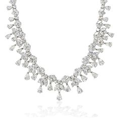 Diamond & Platinum Necklace- firenze jewels
