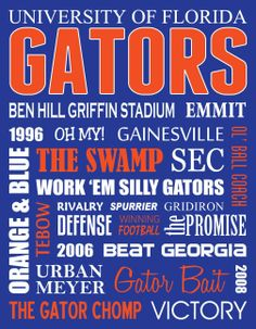 Florida Gators Metal Subway Art Sign by JessPoutreDesigns on Etsy, $60.00