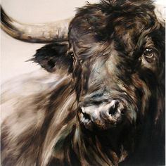 Farm Paintings, Animal Paintings, Animal Drawings, Toros Tattoo, Bull Painting, Bull Tattoos, Bull Cow, Cow Art, Wildlife Art
