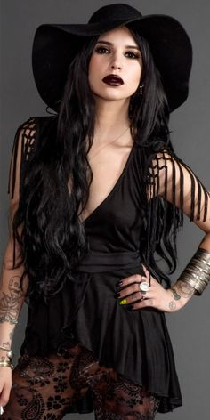 shes got the goth hippie look